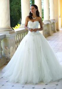 Prinzessinnen Stil- Korsage - Brautkleider Weiden