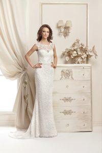 Brautkleider schmale Schnittform mit Träger - Brautstodl Weiden